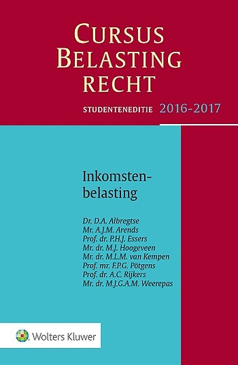 Studenteneditie Cursus Belastingrecht Inkomstenbelasting 2016-2017