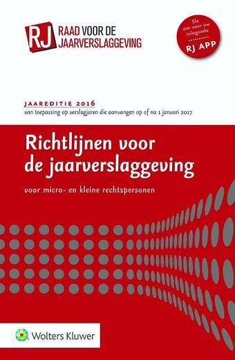 Richtlijnen voor de Jaarverslaggeving 2016