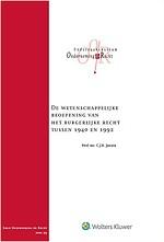 De wetenschappelijke beoefening van het burgerlijke recht tussen 1940 en 1992