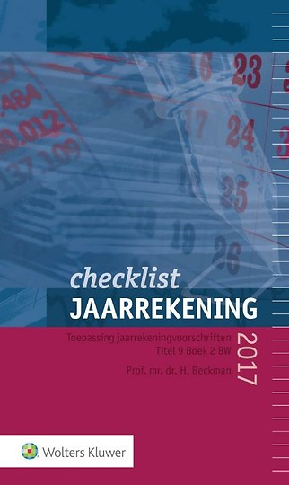 Checklist Jaarrekening 2017
