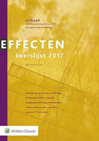 Effectenkoerslijst 2017