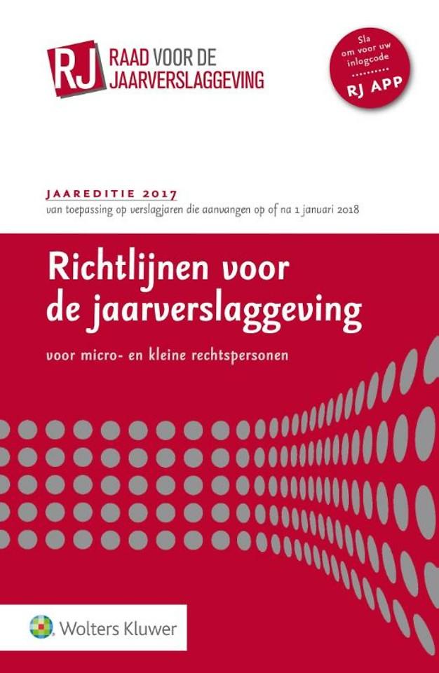 Richtlijnen voor de Jaarverslaggeving 2017