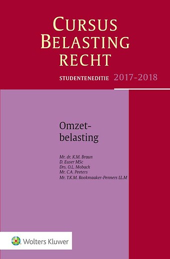 Studenteneditie Cursus Belastingrecht, Omzetbelasting 2017-2018