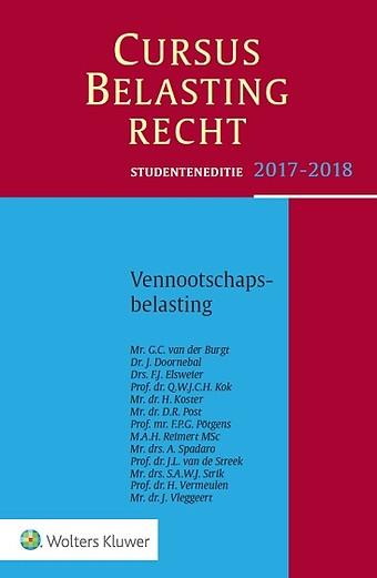 Studenteneditie Cursus Belastingrecht, Vennootschapsbelasting 2017/2018