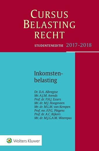 Studenteneditie Cursus Belastingrecht, Inkomstenbelasting 2017-2018