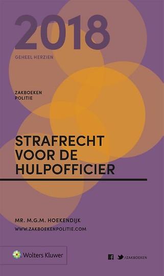 Zakboek Strafrecht voor de Hulpofficier 2018