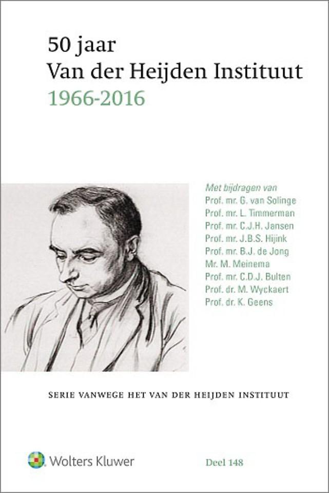 50 jaar Van der Heijden Instituut 1966 - 2016