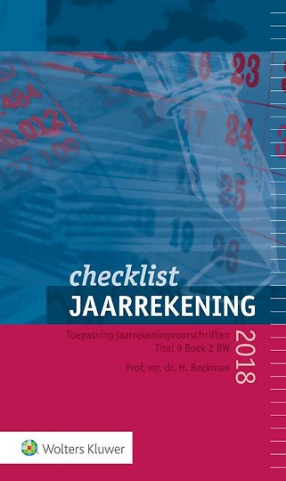 Checklist Jaarrekening 2018
