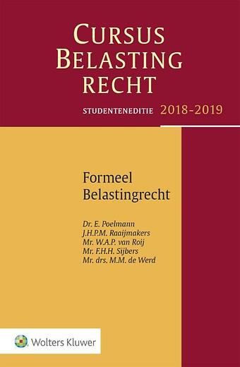 Studenteneditie Cursus Belastingrecht, Formeel Belastingrecht 2018-2019