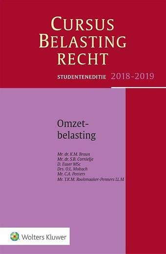 Studenteneditie Cursus Belastingrecht, Omzetbelasting 2018-2019