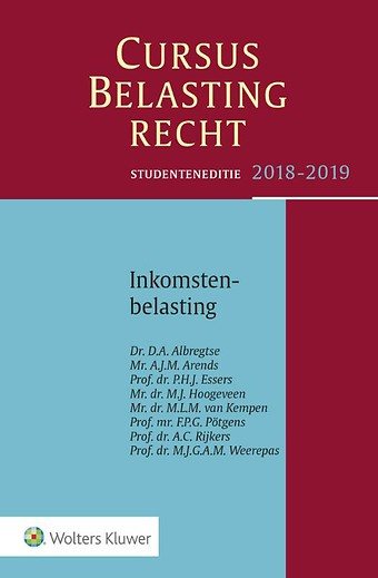 Studenteneditie Cursus Belastingrecht, Inkomstenbelasting 2018-2019