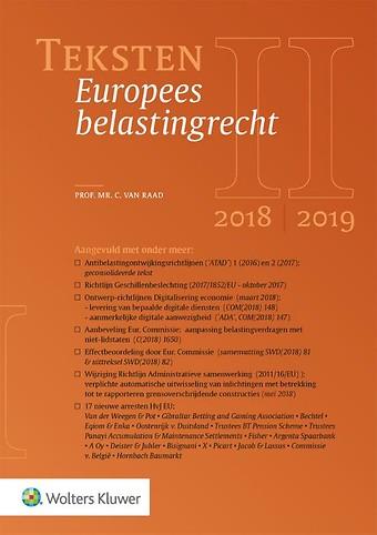 Teksten Europees belastingrecht 2018/2019