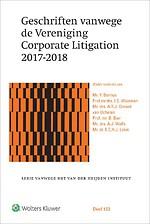Geschriften vanwege de Vereniging Corporate Litigation 2017-2018