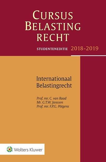 Studenteneditie Cursus Belastingrecht, Internationaal Belastingrecht 2018-2019