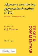 Tekst & Commentaar: Algemene verordening gegevensbescherming (AVG)