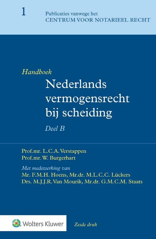 Handboek Nederlands vermogensrecht bij scheiding - Bijzonder Deel B