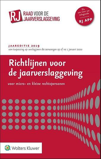 Richtlijnen voor de Jaarverslaggeving voor micro- en kleine rechtspersonen 2019