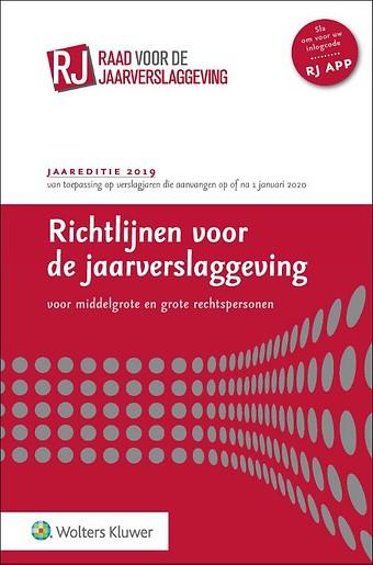 Richtlijnen voor de jaarverslaggeving, middelgrote en grote rechtspersonen 2019 (gebonden editie)