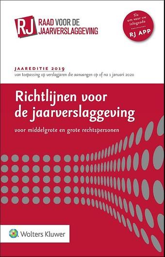 Richtlijnen voor de jaarverslaggeving, middelgrote en grote rechtspersonen 2019 (paperbackeditie)