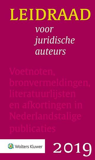 Leidraad voor juridische auteurs