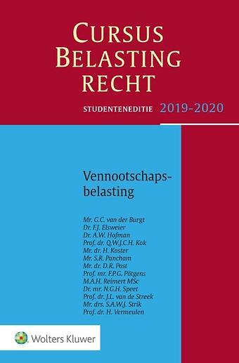 Studenteneditie Cursus Belastingrecht Vennootschapsbelasting 2019-2020