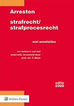 Arresten strafrecht/strafprocesrecht 2020