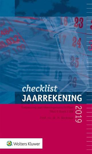 Checklist Jaarrekening 2019