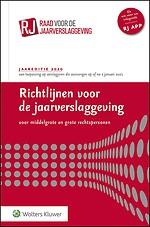 Richtlijnen voor de jaarverslaggeving, middelgrote en grote rechtspersonen 2020 (gebonden editie)
