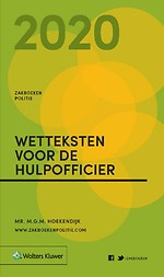 Zakboek Wetteksten voor de Hulpofficier 2020