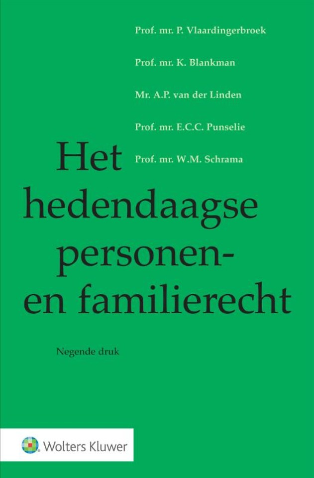Het hedendaagse personen- en familierecht