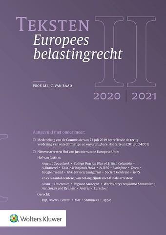 Teksten Europees belastingrecht 2020/2021