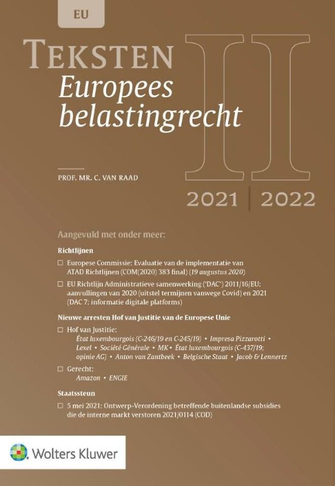 Teksten Europees belastingrecht 2021/2022