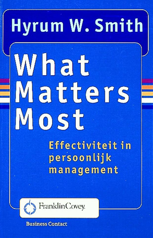 What Matters Most (Nederlandstalig!)