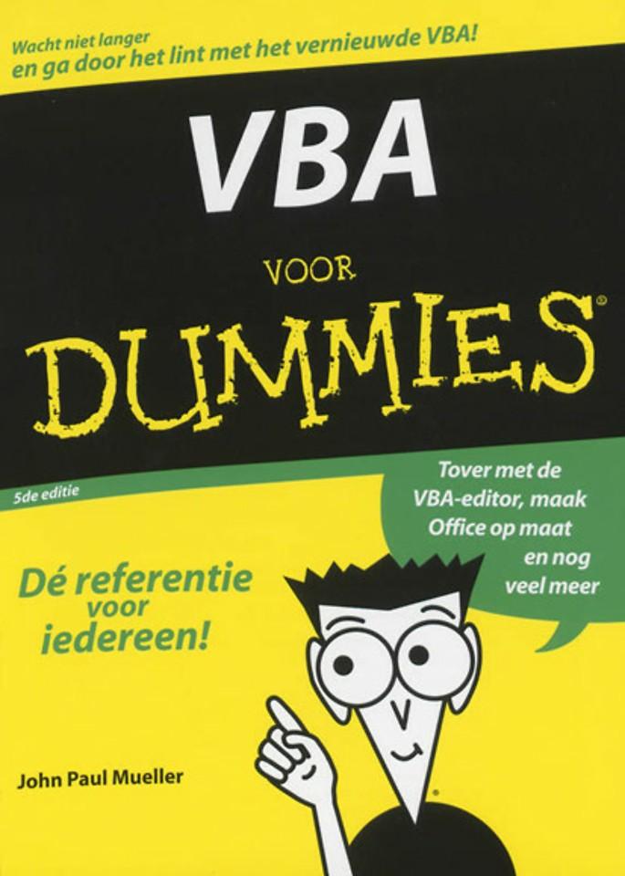 VBA voor Dummies