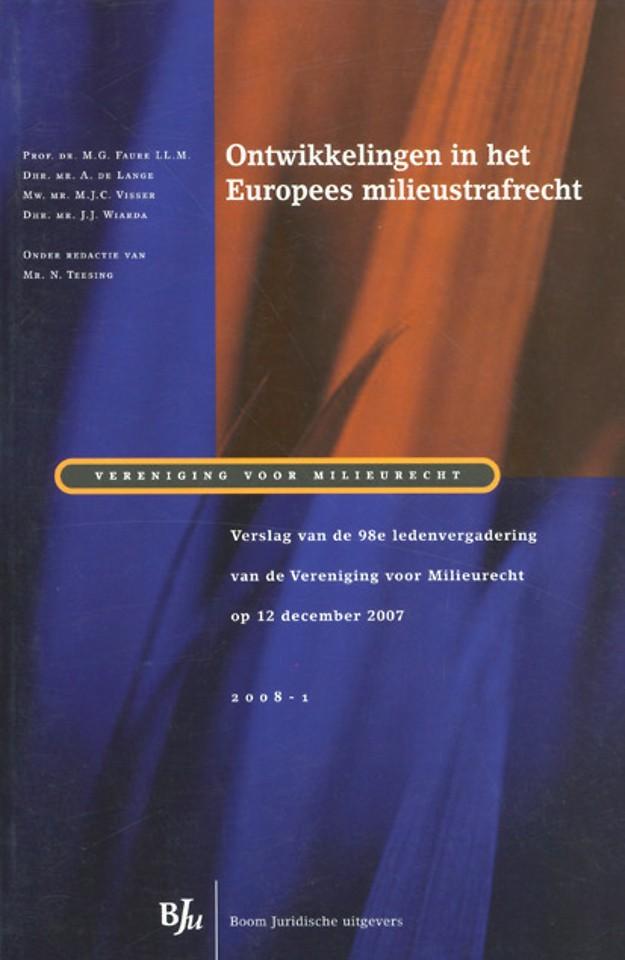 Ontwikkelingen in het Europees milieustrafrecht