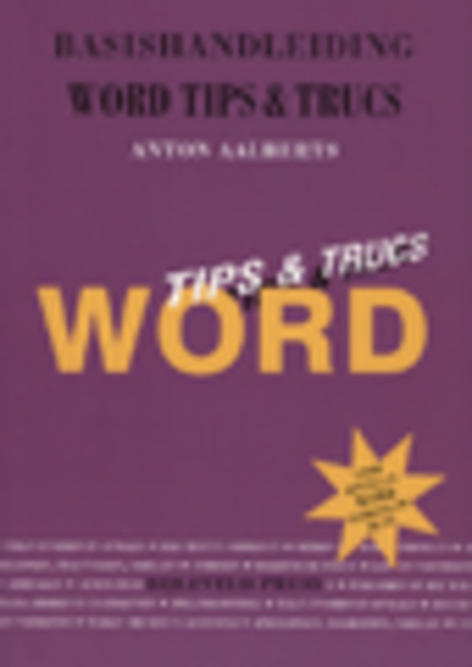 Basishandleiding Word Tips & Trucs