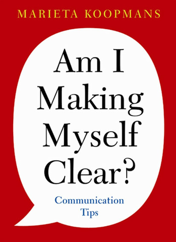 Am I making myself clear?