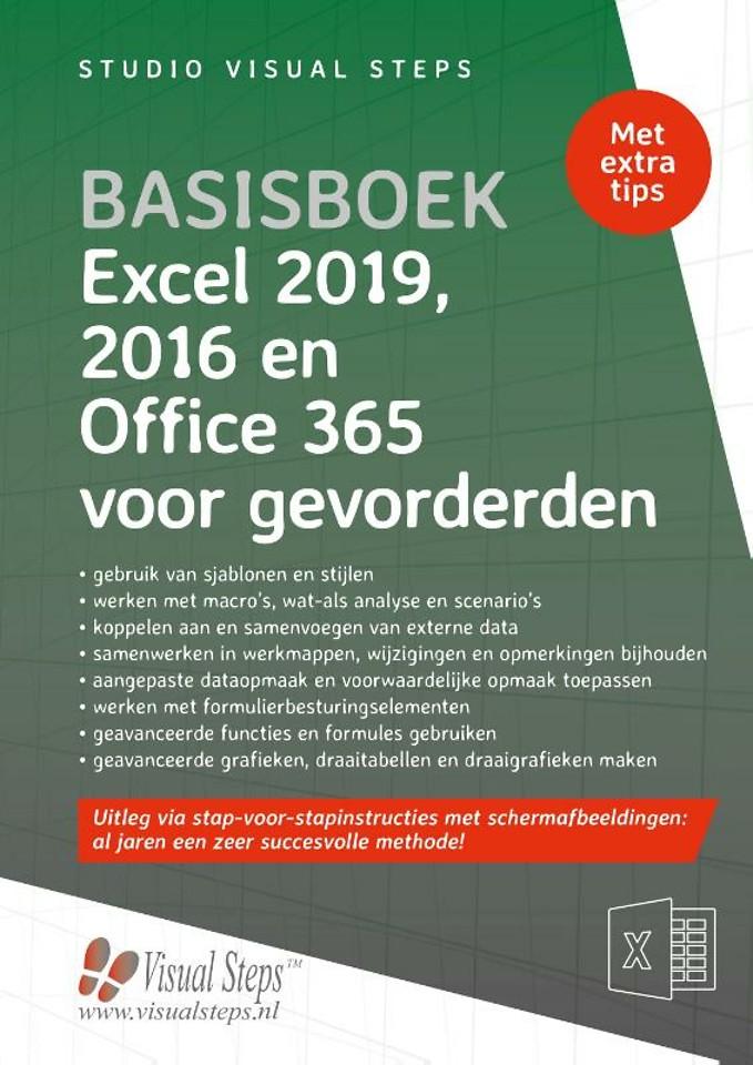 Basisboek Excel 2019, 2016 en Office 365 voor gevorderden