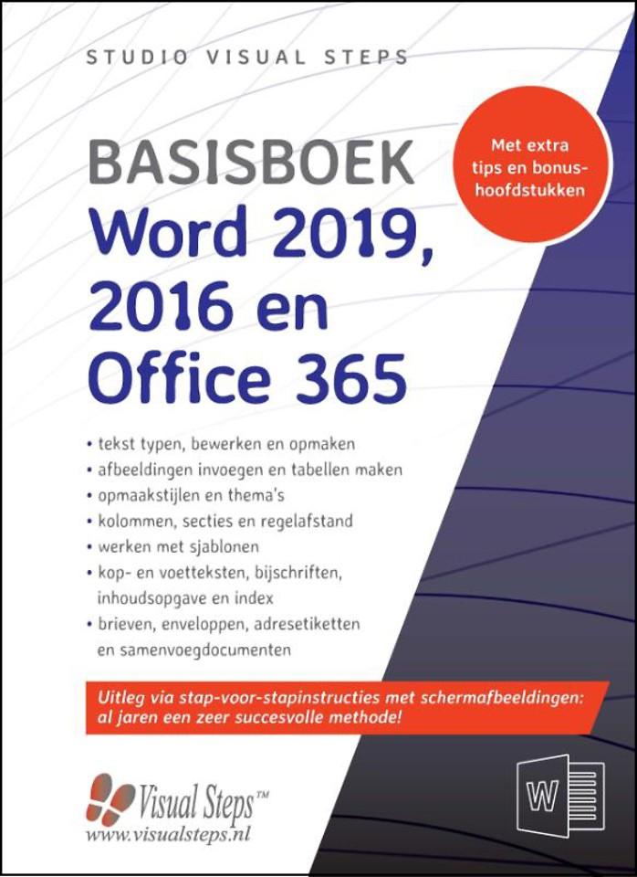 Basisboek Word 2019 2016 en Office 365