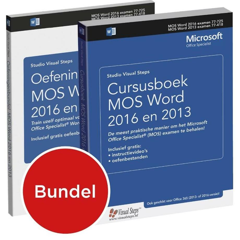 Cursusboek MOS Word 2016 en 2013 + oefeningenbundel