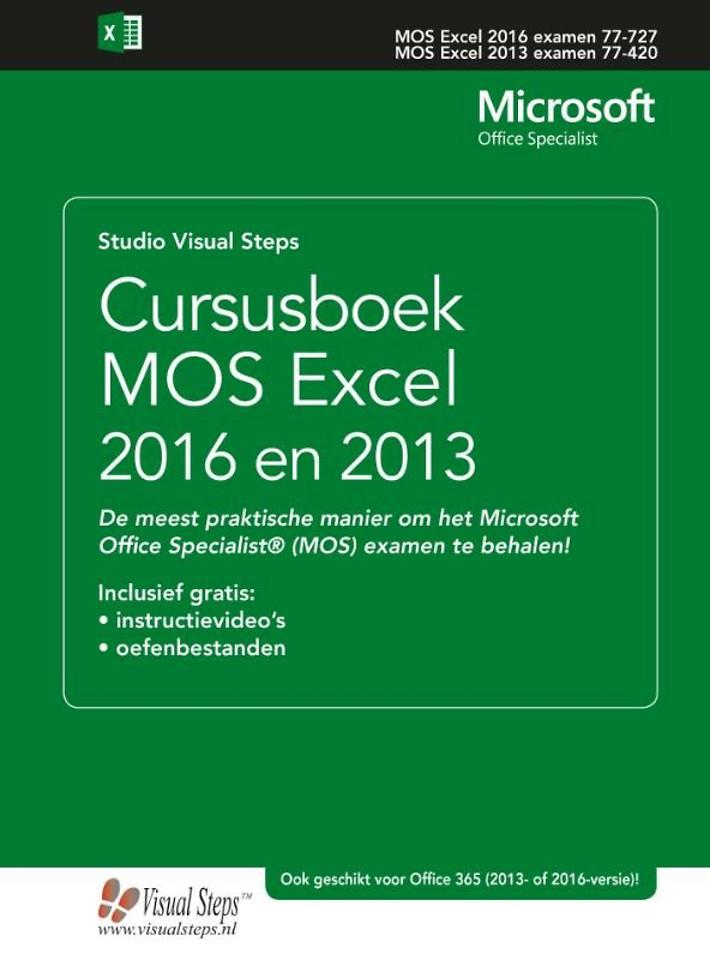 Cursusboek MOS Excel 2016 en 2013 Basis