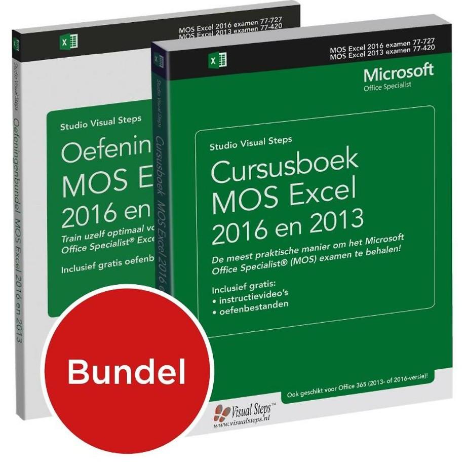 Cursusboek MOS Excel 2016 en 2013 Basis + extra oefeningen