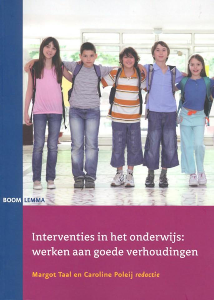 Interventies in het onderwijs: werken aan goede verhoudingen