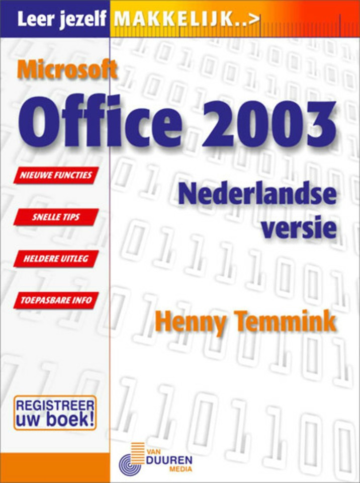 Leer jezelf MAKKELIJK...Microsoft Office 2003