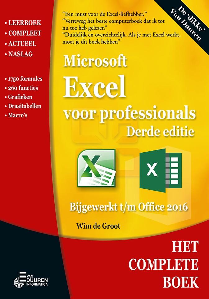 Het Complete Boek: Excel voor professionals 3e editie