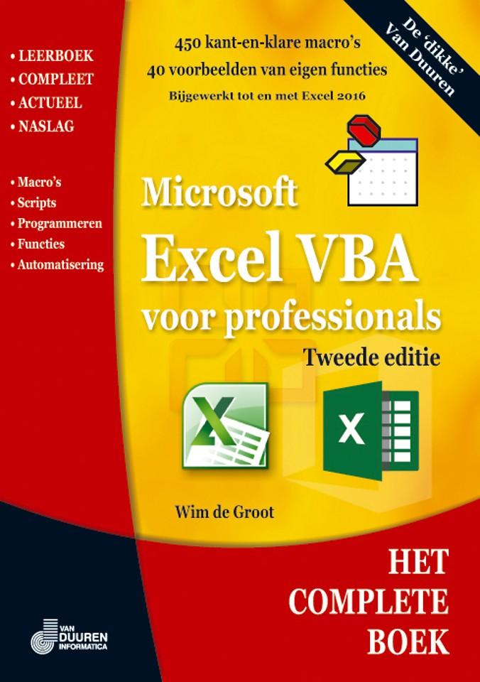 Het Complete Boek Excel VBA voor professionals, 2e editie