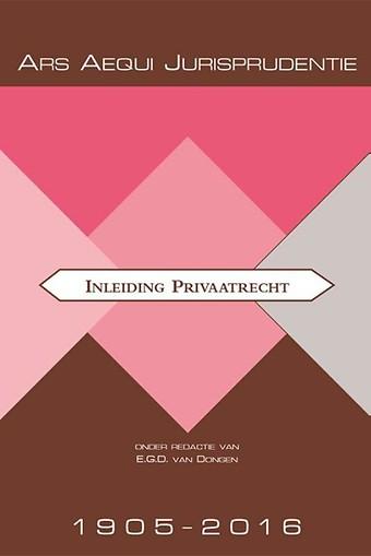 Jurisprudentie Inleiding Privaatrecht 1905-2016