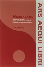 Herbalans; beschouwingen naar aanleiding van het rapport Uitgebalanceerd