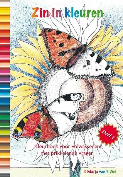 Kleurplaten Fantasie Volwassenen.Zin In Kleuren Deel 1 Het Mooiste Kleurboek Voor Volwassenen Met Prikkelende Vragen