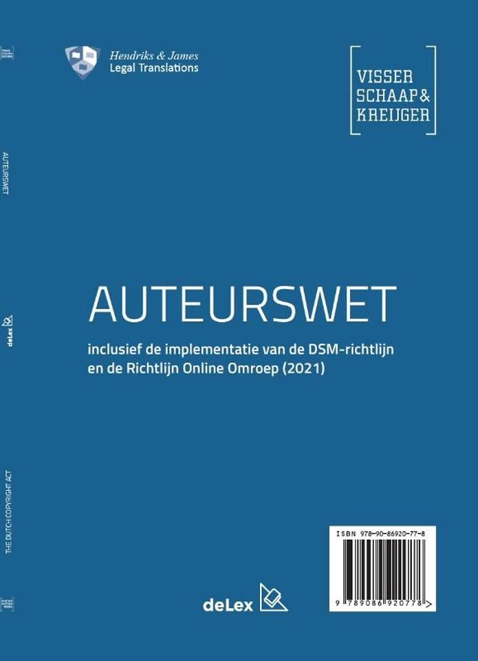Auteurswet / The Dutch Copyright Act